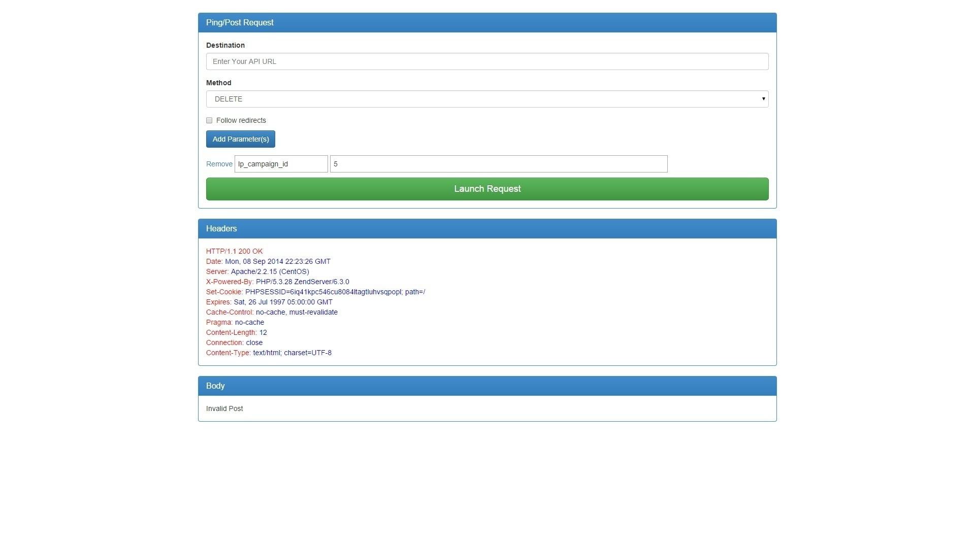 API Debugging and Testing Tool