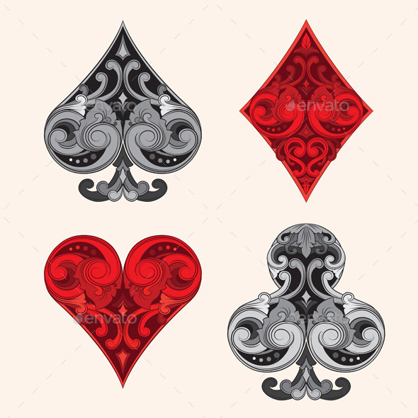 Playing Card Vintage Ornamental By Alitsuarnegara Graphicriver