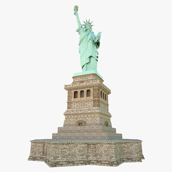 Statute of Liberty - 3DOcean Item for Sale