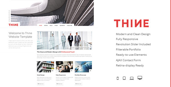 Thine - Responsive Modern HTML Template - Business Corporate