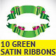 10 Green Ribbons - GraphicRiver Item for Sale