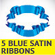 5 Blue Ribbons - GraphicRiver Item for Sale