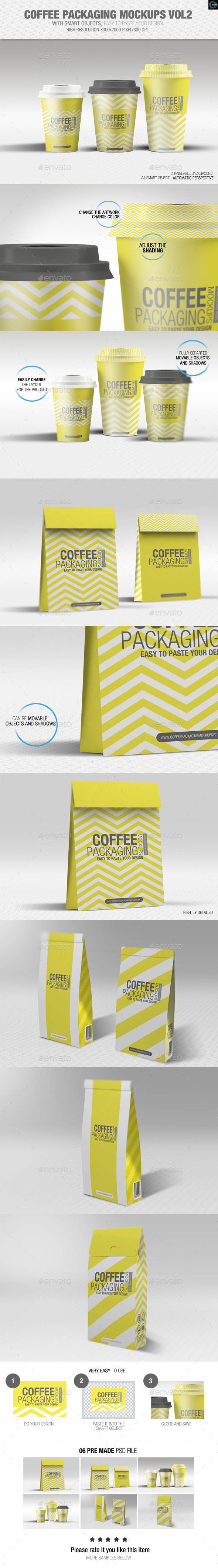 Coffee Packaging Mockups Vol2 - Food and Drink Packaging