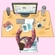 Accountant Work Place Colored - GraphicRiver Item for Sale