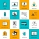 Hacker Icons Flat Line - GraphicRiver Item for Sale