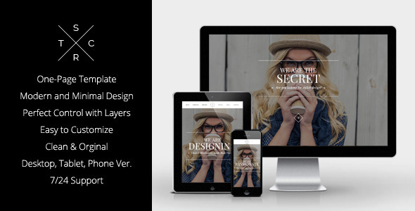 Secret - Elegant Muse Template - Corporate Muse Templates