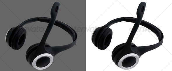 Cordless Headphones with Microphone - Technology Isolated Objects
