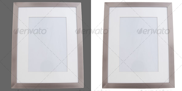 Silver Photo Frame - Home & Office Isolated Objects