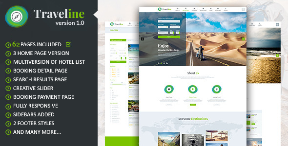 Traveline | Tour & Travel Hotel Booking Template
