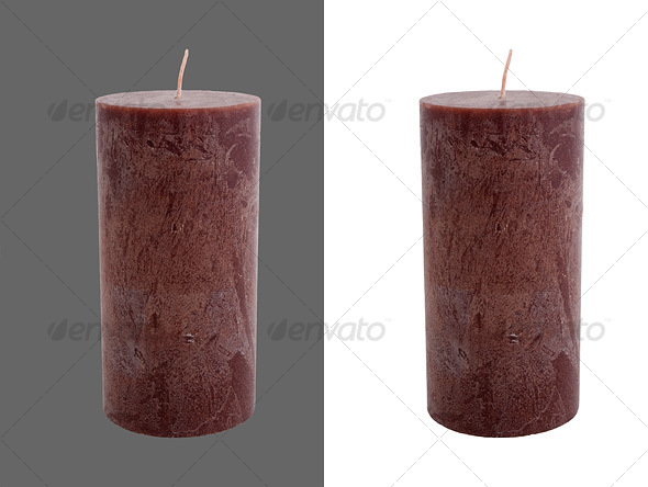 Large Candle - Home & Office Isolated Objects