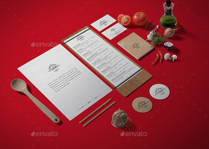 Restaurant / Food Branding Identity Mock-up by Jkhnon | GraphicRiver
