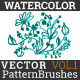 Watercolor vector pattern brushes - GraphicRiver Item for Sale
