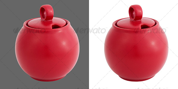 Ceramic Sugar Jar - Home & Office Isolated Objects