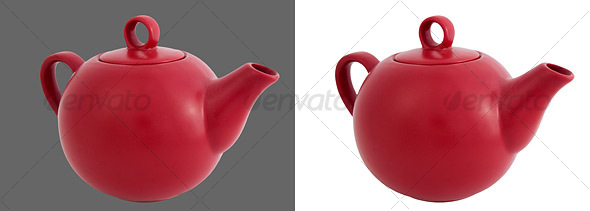 Ceramic Tea Kettle - Home & Office Isolated Objects