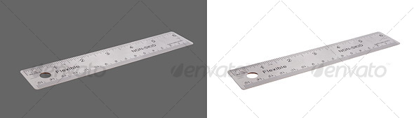 Metal Ruler - Home & Office Isolated Objects