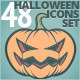 48 Halloween Icons Set - GraphicRiver Item for Sale