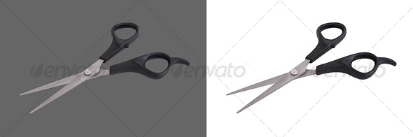 Open Scissors - Home & Office Isolated Objects