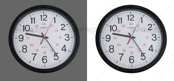 Wall Clock - Home & Office Isolated Objects