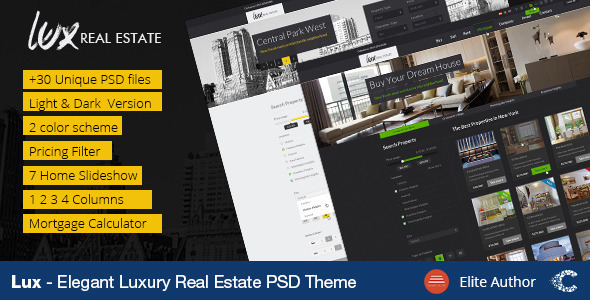 Luxury Real Estate | PSD Template