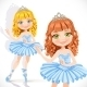 Ballerina Girl in Tiara and Blue Dress - GraphicRiver Item for Sale