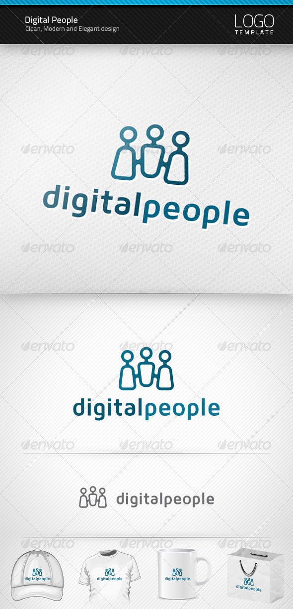 Digital People Logo - Symbols Logo Templates