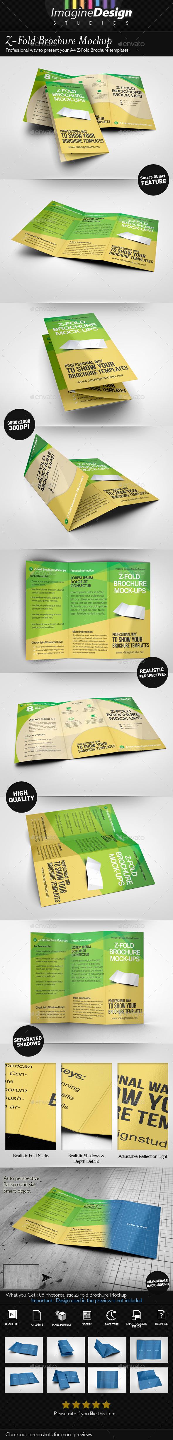 Z-Fold Brochure Mockup - Brochures Print