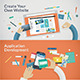 Flat Design Concepts for Websites and Apps Develop - GraphicRiver Item for Sale