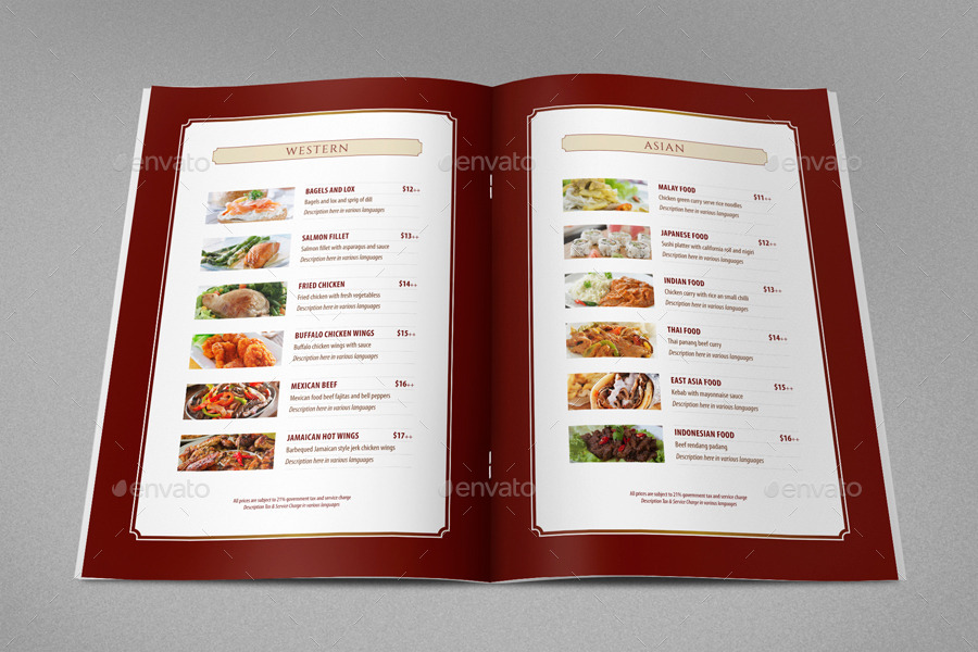 Hotel book menu and restaurant by pozanmatang graphicriver