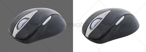 Black Wireless Mouse - Technology Isolated Objects
