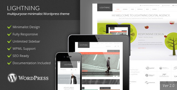 Lightning – Multipurpose Minimalist Theme