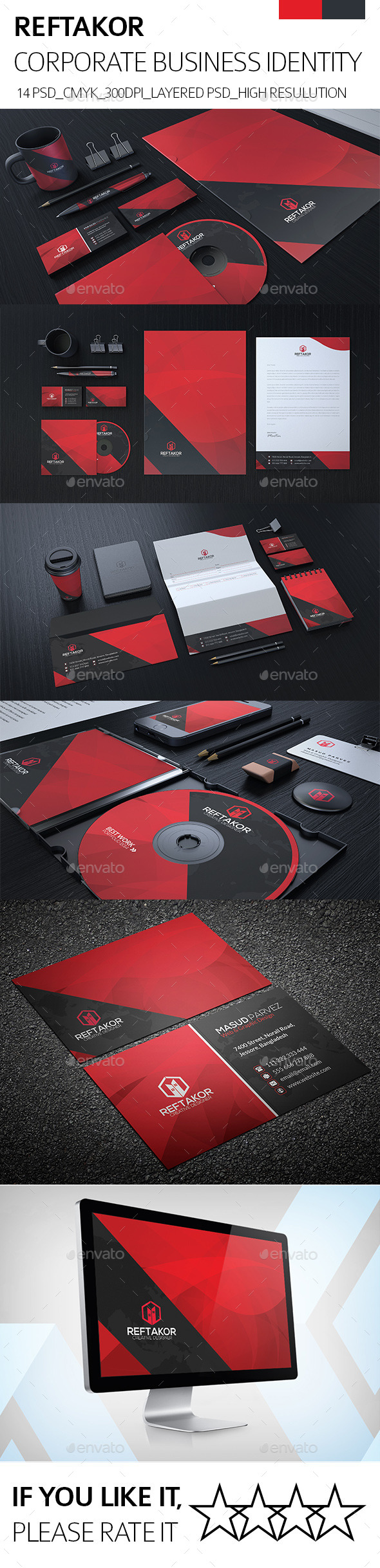 REFTAKOR Corporate Identity - Stationery Print Templates