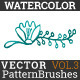 Watercolor Vector Pattern Brushes Vol.3 - GraphicRiver Item for Sale
