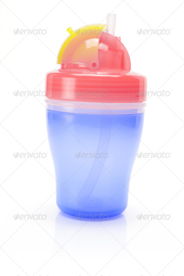 Baby Sucking Cup - Stock Photo - Images