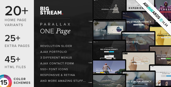 BigStream – One Page Multi-Purpose Template