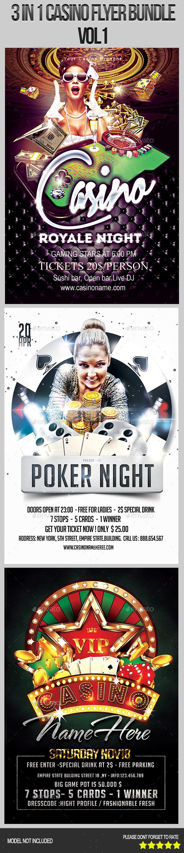 3 in 1 Casino Flyer Bundle