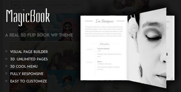 MagicBook – A 3D Flip Book WordPress Theme