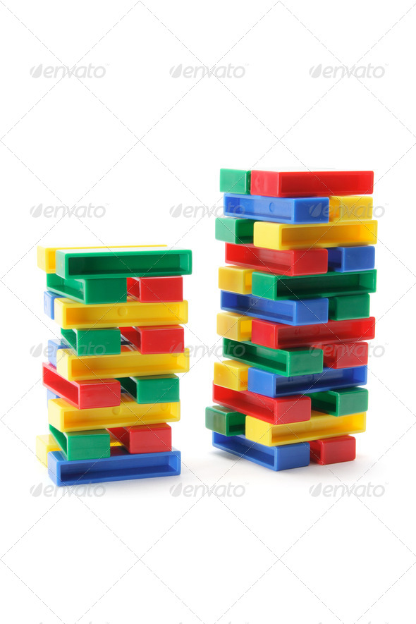 Stacks of Building Blocks - Stock Photo - Images