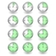 Twelve Clocks Showing Different Time - GraphicRiver Item for Sale