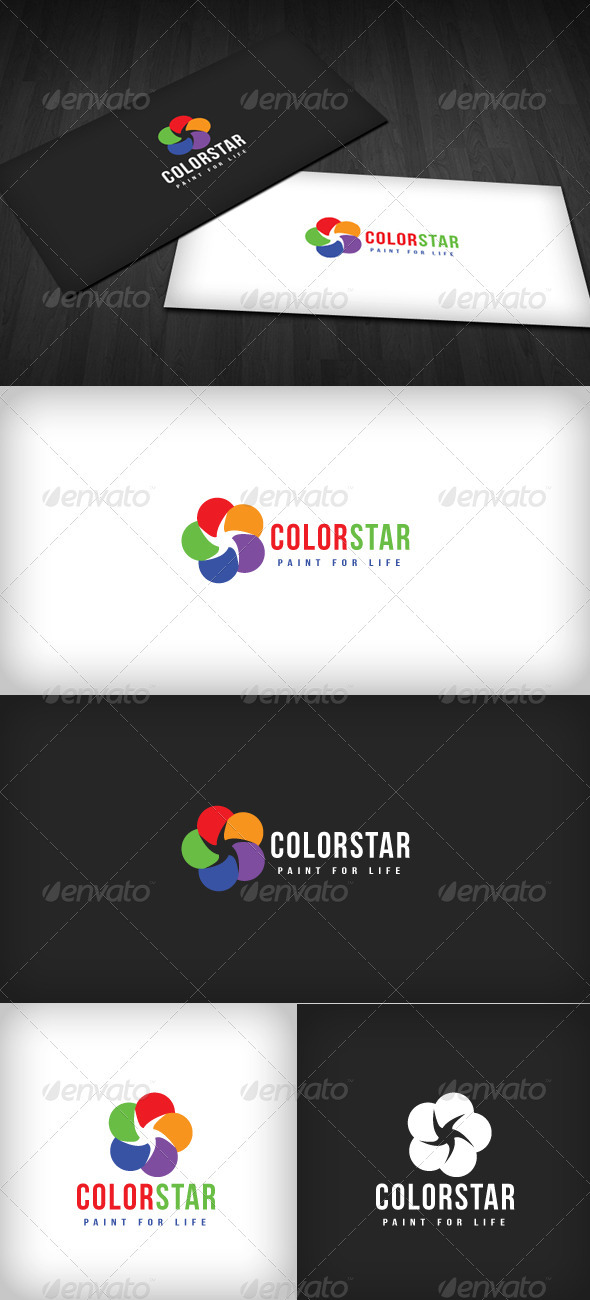 Color Star Logo - Vector Abstract