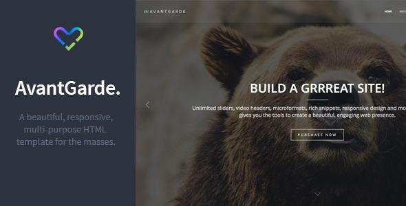 AvantGarde – Responsive HTML Template