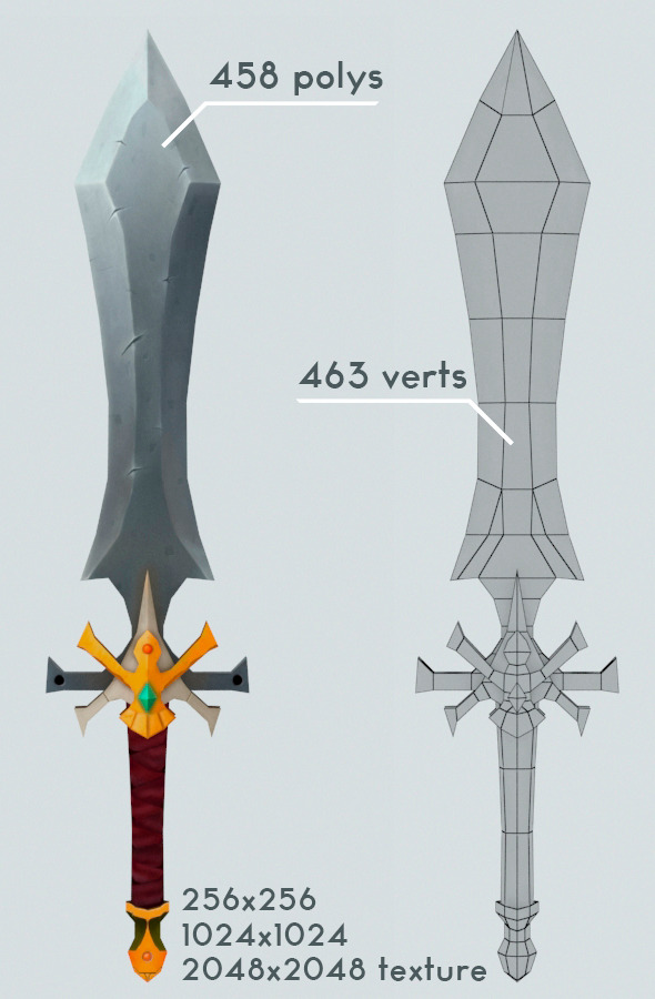 Low Poly Sword  - 3DOcean Item for Sale