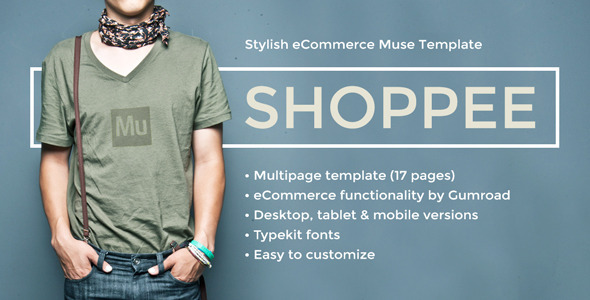 Shoppee - Stylish eCommerce Muse Template - eCommerce Muse Templates