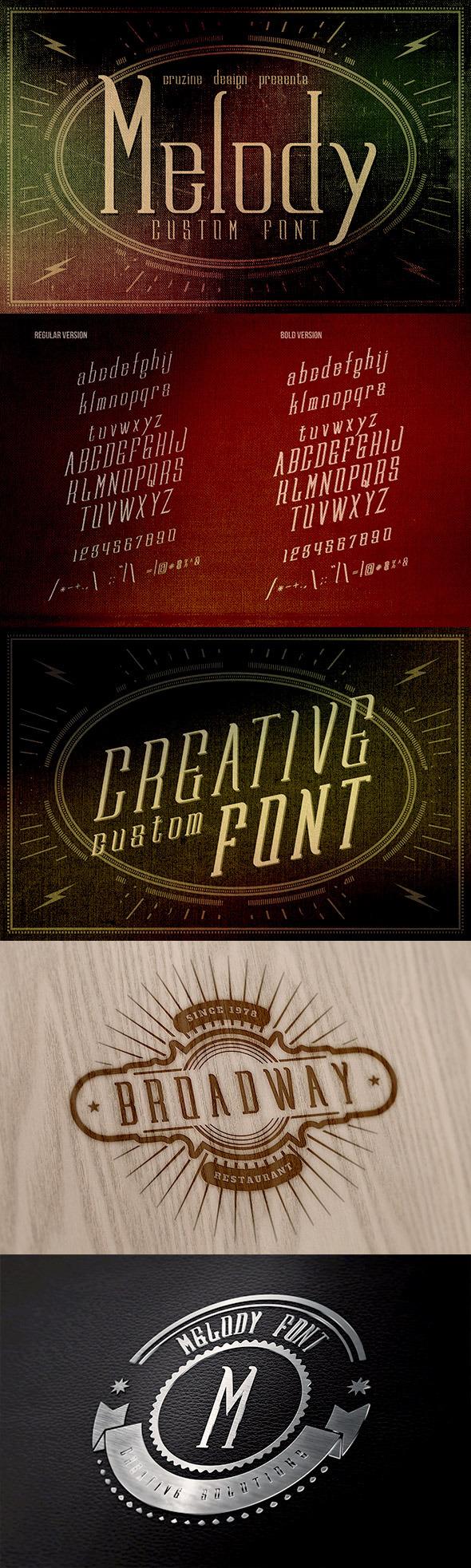 Melody Custom Font - Miscellaneous Serif
