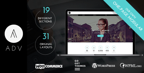 ADV – Multipurpose One Page WordPress Theme