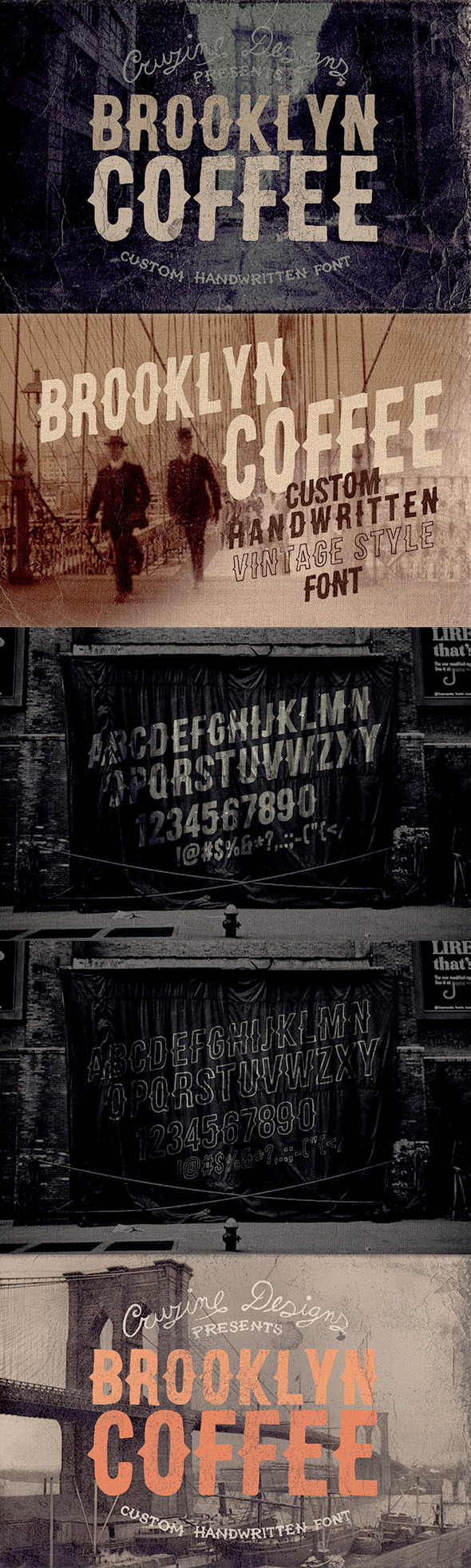 Brooklyn Coffee Custom Font - Miscellaneous Decorative