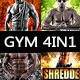 Gym and Workout Bundle 4in1 - GraphicRiver Item for Sale