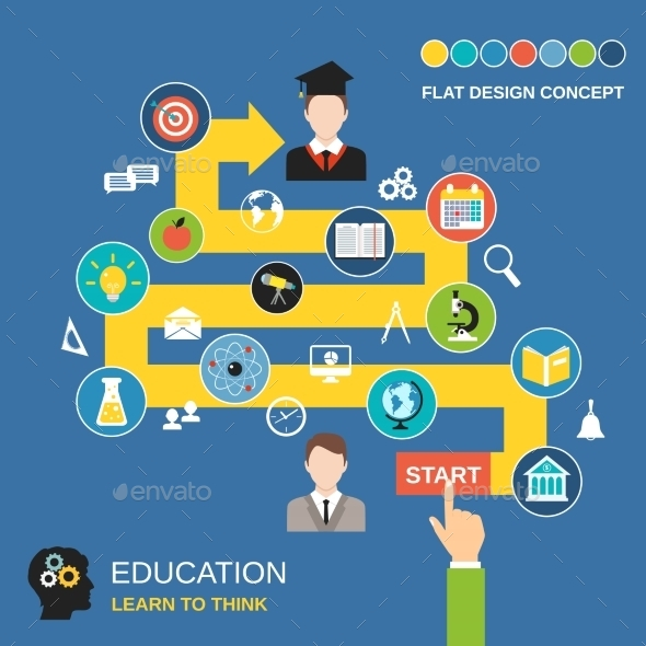 Education Process Concept - Miscellaneous Vectors