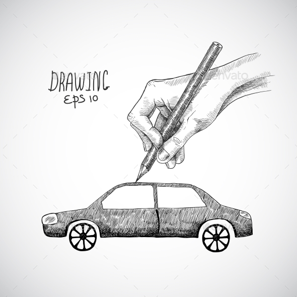 Hand Drawing Car - Miscellaneous Conceptual