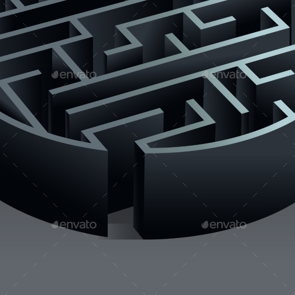 Maze 3D Circle - Miscellaneous Vectors