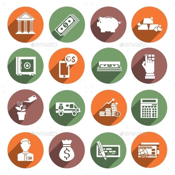 Bank Service Icons - Business Icons